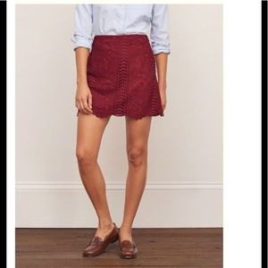 ABERCROMBIE & FITCH lace A line skirt - US 6
