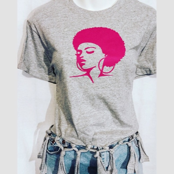 Miss Dress Code Tops - Afro Lady Tee Tshirt