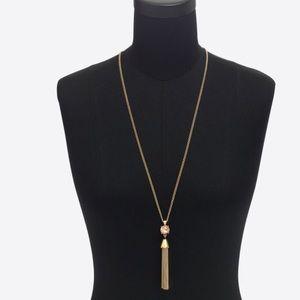 J.crew Gemstone tassel pendant necklace, NWT