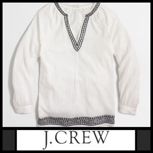 J. Crew Embroidered Southwestern Spring Top XS
