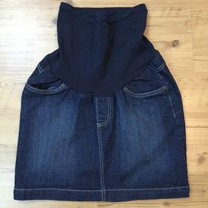 Motherhood Maternity Denim Jean Skirt