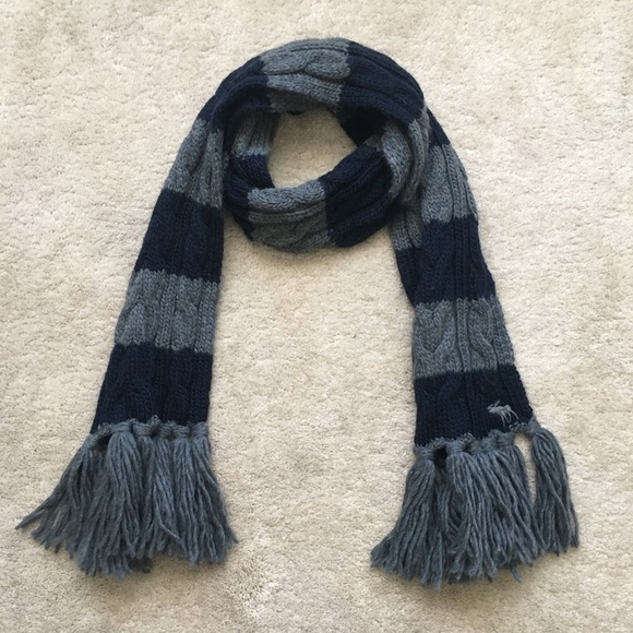 Abercrombie Fitch Accessories Thick Cable Knit Striped Winter