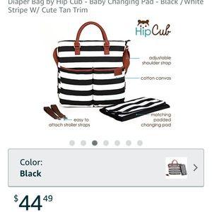 4554951318763 Hip Cub Bags | Blackwhite Striped Diaper Bag | Poshmark