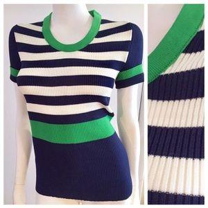 Vintage Mod Knit Top, Colorblock, S
