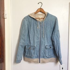 """J. Jill """"Out of the Blue"""" denim lined jacket"""