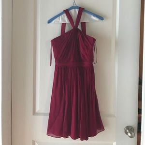 Worn once in a wedding beautiful wine color