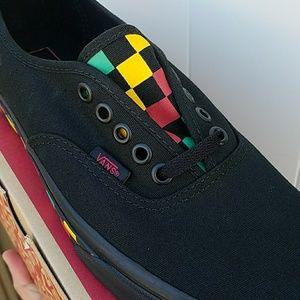 3eee66a256d Vans Shoes - Vans authentic black rasta