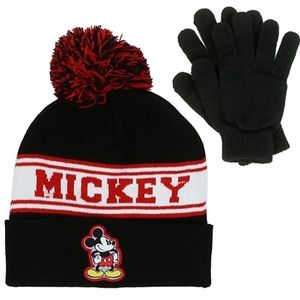 Mickey Mouse Boys Winter Hat & Gloves Set.