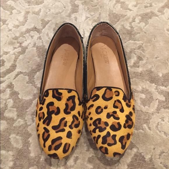 4512227c508 J. Crew Shoes - J. Crew Cora leopard calf hair loafers