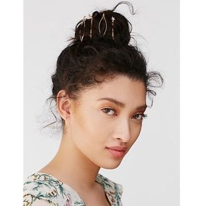 Free People gold moon and star bobby pins