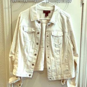 Cream colored jean jacket!