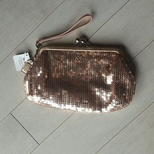 Coach Sequin Framed Large Wristlet - NWT