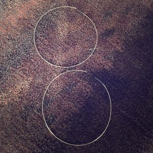 Nasty Gal extra large thin hoop earrings
