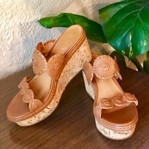 Jack Rodgers Leigh Platform Wedge Sandals Sz 8