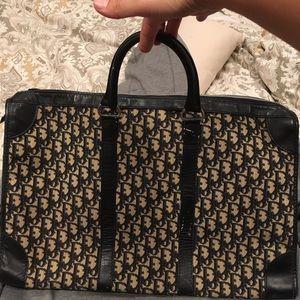 Dior vintage navy trotter briefcase bag