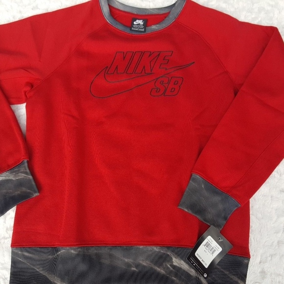 Nike Shirts Tops New Boys Sb Crew Neck Sweatshirt Red Poshmark