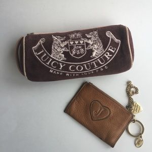 JUICY COUTURE COSMETIC/COIN BAG BUNDLE