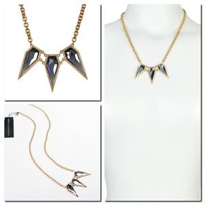 Rebecca Minkoff Crystal Pave Triple Spike Necklace