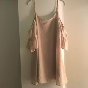 Blush Cold Shoulder Dress