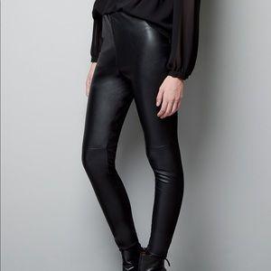 Denim - Zara leather leggings