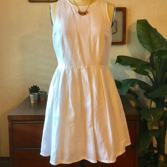 9e2194b01e5 GAP Dresses   Skirts - Gap White Linen Dress Sz. 4