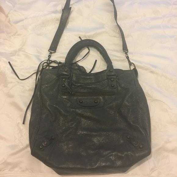 41bc59b051a18 Balenciaga Handbags - Balenciaga Classic Velo Crossbody Bag - gray