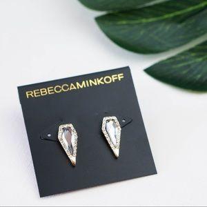 Rebecca Minkoff Crystal Pave Spike Studs Earrings
