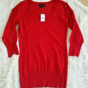 Final sale! ! Deep red tunic sweater