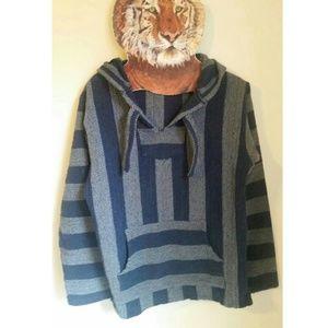 Baja weed mexican blanket hoodie hooded sweater