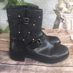 Tory Burch size 81/2 booties with studs  like new