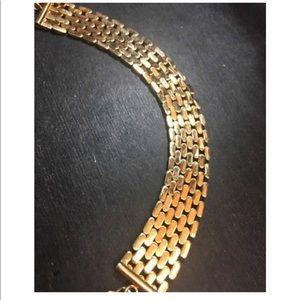 "Jewelry - Large Wide 14k Layer On  Bracelet 17.5mm7.5-9"""""