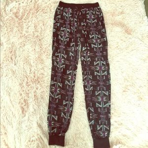 GORGEOUS urban outfitters semi sheer jogger pants