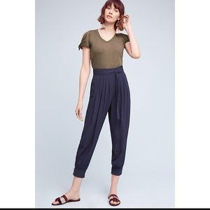 NWT ANthropologie Button Hem Joggers