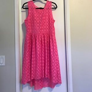 Hot pink never worn H and M high low lace dress