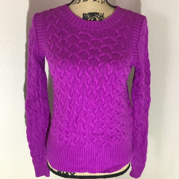 80% off J. Crew Sweaters - JCrew cable sweater. Beautiful purple ...