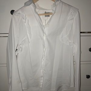 ASOS white buttoned down shirt