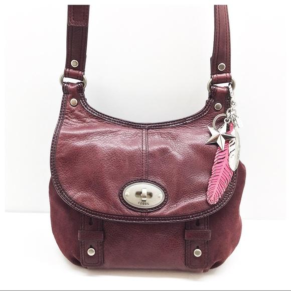 8973eaa8bfa3 Fossil Handbags - Rare   Fossil   Leather   Suede Saddle Bag