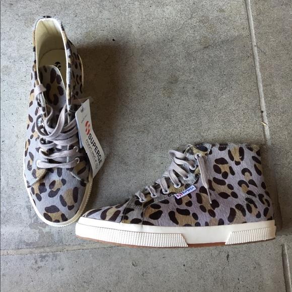 Nwt Superga 295 Leopard Print Calf Hair
