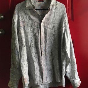 Elie Tahari Men's Linen Button Down - $228 RETAIL!