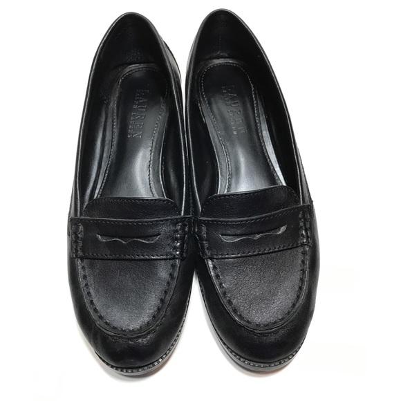 Ralph Lauren Galia Black Leather Penny