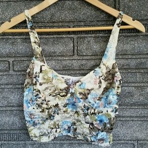 Free People lace flower bra size small*