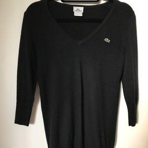 Women's Lacoste 3/4 length sweater