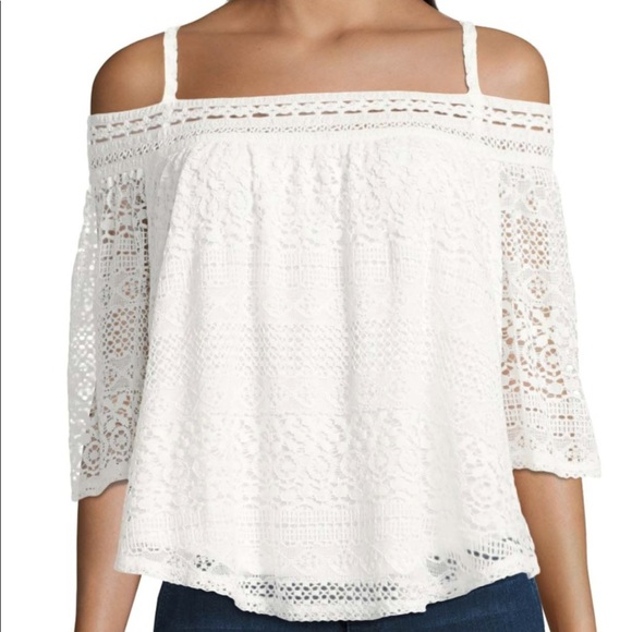 b033399a1d304 Lace Off the Shoulder Top white or choose olive