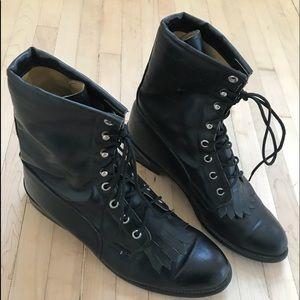 Vintage Roy copper lace up boots