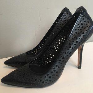 Black Rachel Roy Amma Leather Heels