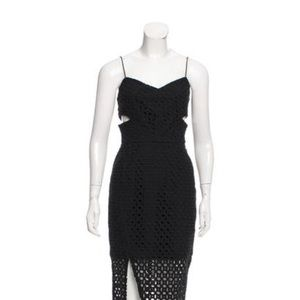 Nicholas black open embroidered dress