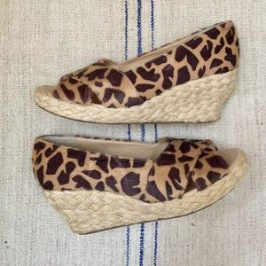 COCONUTS by MATISSE Animal Print Espadrille Wedges