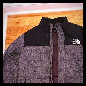 North face men's tweed nuptse heights jacket