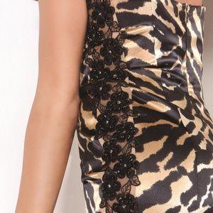 Jovani Dresses - Jovani 9866 Mini Leopard Print Cocktail Dress Sz 0 56488569d