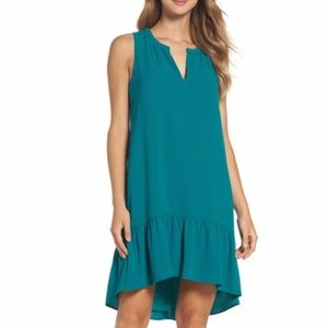 NWT Charles Henry high/low ruffle shift dress